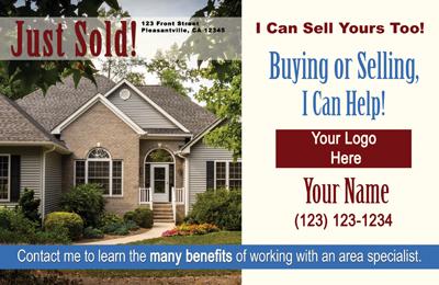 Just ListedJust Sold Postcards All Real Estate